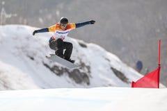 2018 mars 12th - den alpina mitten för jeongseon - Sydkorea Lag GB Royaltyfri Bild