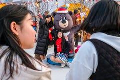 2018 mars 13th Peyongchang Paralympic lekar 2018 i södra Kore Arkivbilder