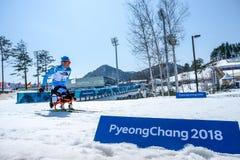 2018 mars 13th Peyongchang Paralympic lekar 2018 i södra Kore Royaltyfri Foto
