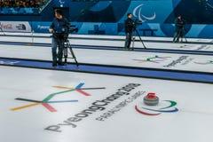 2018 mars 13th Peyongchang Paralympic lekar 2018 i södra Kore Arkivbild