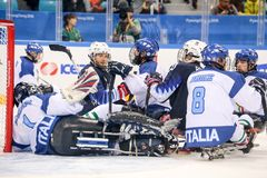 2018 mars 15th Peyongchang Paralympic lekar 2018 i södra Kore Royaltyfri Bild