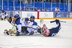 2018 mars 15th Peyongchang Paralympic lekar 2018 i södra Kore Royaltyfria Bilder