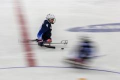 2018 mars 15th Peyongchang Paralympic lekar 2018 i södra Kore Arkivbild