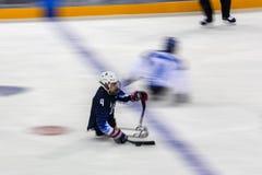 2018 mars 15th Peyongchang Paralympic lekar 2018 i södra Kore Arkivfoton