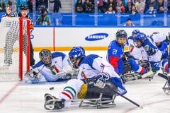 2018 mars 12th Peyongchang Paralympic lekar 2018 i södra Kore Fotografering för Bildbyråer