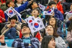 2018 mars 12th Peyongchang Paralympic lekar 2018 i södra Kore Arkivfoton