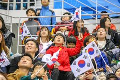 2018 mars 12th Peyongchang Paralympic lekar 2018 i södra Kore Royaltyfri Fotografi