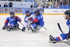 2018 mars 12th Peyongchang Paralympic lekar 2018 i södra Kore Royaltyfri Foto