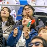 2018 mars 12th Peyongchang Paralympic lekar 2018 i södra Kore Arkivbild