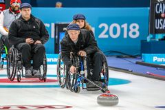 2018 mars 13th Peyongchang Paralympic lekar 2018 i södra Kore Royaltyfria Bilder