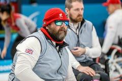 2018 mars 13th Peyongchang Paralympic lekar 2018 i södra Kore Arkivfoton