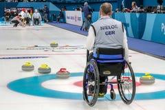 2018 mars 13th Peyongchang Paralympic lekar 2018 i södra Kore Royaltyfri Bild