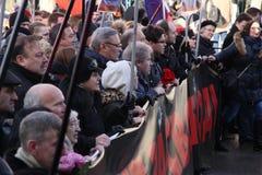 Mars trauring Boris Nemzov Photos libres de droits