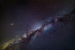 Mars und Milchstraße Stockfotografie