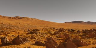 Mars valley Royalty Free Stock Photos