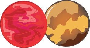 Mars & Venus Royalty Free Stock Image