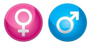 Mars and Venus symbols Stock Images