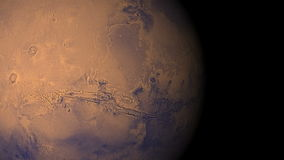 Mars voyage. A video animation of mars stock footage