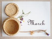 Mars 8, vykort Internationell dag för kvinna` s Fotografering för Bildbyråer