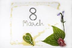 8 mars - Women& heureux international x27 ; jour de s Photos libres de droits
