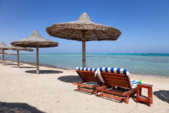 Marsa Alam plaża w Egipt zdjęcia royalty free