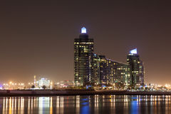 The Marsa Plaza Building at night, Dubai Royalty Free Stock Image