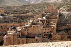 Marsaba monastery Royalty Free Stock Photography