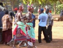 MARSABIT, KENYA - NOVEMBER 27, 2008: Market. Unfamiliar men of t Stock Photography