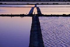 marsala盐西西里岛工作 免版税库存照片