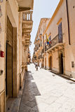 Marsala. Street in marsala downtown in sicily Royalty Free Stock Photo