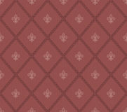 Marsala color Fleur De Lis seamless background. Royalty Free Stock Photography