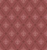 Marsala color Fleur De Lis seamless background. Stock Photography