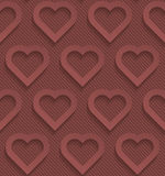 Marsala color perforated paper. Stock Image