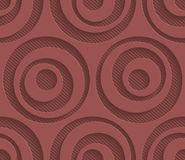 Marsala color perforated paper. Royalty Free Stock Image