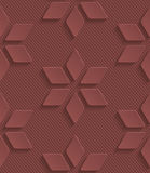 Marsala color perforated paper Stock Photos