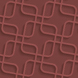 Marsala color perforated paper. Stock Photo