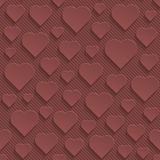 Marsala color perforated paper. With cut out effect. Abstract 3d seamless background. Vector EPS10 Stock Photo