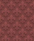 Marsala color perforated paper fleur-de-lis. Stock Images
