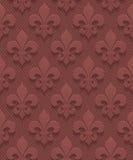 Marsala color perforated paper fleur-de-lis. Stock Images
