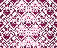 Marsala color vector pattern with heart Royalty Free Stock Photography