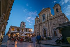 MARSALA, ITALIË - CIRCA SEPTEMBER 2017: Tijdtijdspanne, walkin Mensen Royalty-vrije Stock Afbeelding