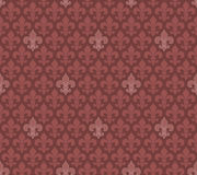 Marsala koloru Fleur De Lis bezszwowy tło Obraz Stock
