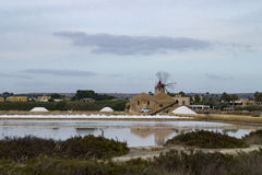 Marsala salt flats Stock Image