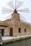 Marsala salt flats Royalty Free Stock Photo