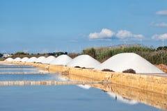 Marsala saltworks Stock Photo