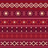 Marsala seamless geometric pattern Royalty Free Stock Photography