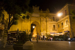 Marsala gate in the night  Royalty Free Stock Photo