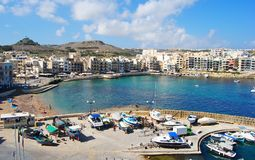 Marsalforn, Malta – September 27, 2013. View over Marsalforn. View over Marsalforn on the Gozo island in Malta Royalty Free Stock Image
