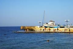 Marsalforn Village in Gozo Island Stock Images