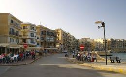 Marsalforn Village in Gozo Island Royalty Free Stock Photos